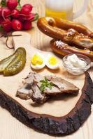 rôti de porc bavarois froid en tranches