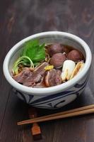 kamo nanban soba, nouilles de sarrasin au canard et poireaux