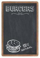 menu de burgers
