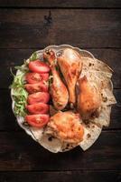 poulet et tortilla