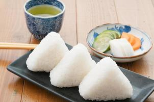 japonais, cuisine, onigiri photo