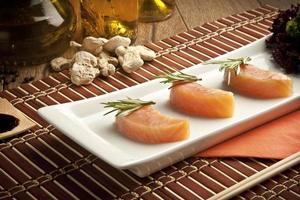 saumon, sushi Banque d'Image photo