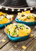 nachos au fromage fondu