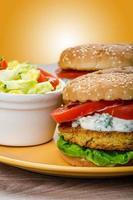 burger de pois chiches végétarien