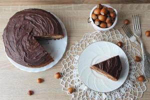 gâteau au fromage au chocolat photo