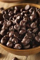 pépites de chocolat noir bio photo