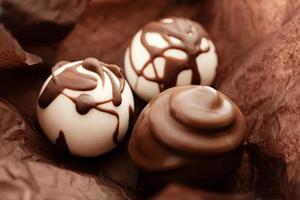 pralines au chocolat photo