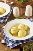 soupe de boule de pain azyme maison photo