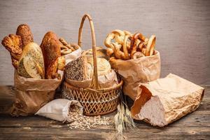 divers produits de boulangerie frais photo