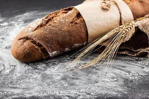 cadran bâton avec épis de blé photo