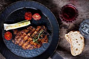 steak de porc grillé
