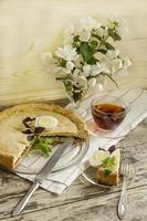 tarte aux épinards et oeufs photo