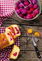 gâteau aux prunes fait maison photo