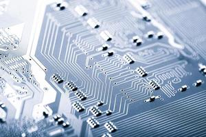 détail de la carte de circuit imprimé photo