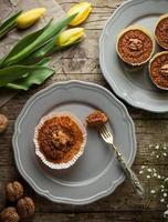 muffins aux carottes et aux noix photo