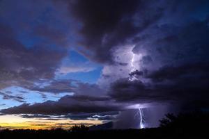 tucson sunset lightning photo