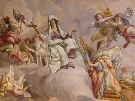 fresques au plafond dans la karlskirche à vienne photo