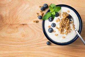 myrtilles et yaourts photo