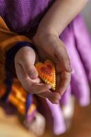 coeur de feutrage de laine photo
