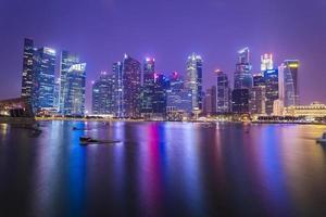 crépuscule à singapour photo