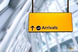 enregistrement, départ de l'aéroport et arrivée panneau d'information