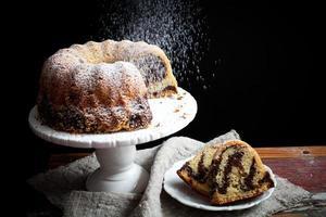 gâteau Bundt en marbre photo