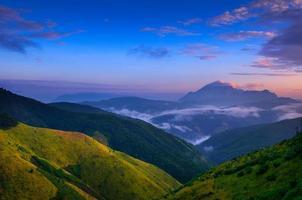 paysage de luang prabang, laos photo