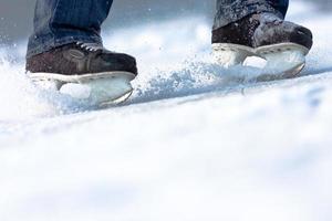 briser les patins à glace, beaucoup d'espace de copie photo