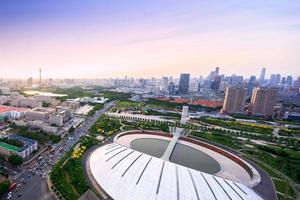 Horizon panoramique et bâtiments modernes de Tianjin