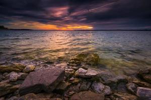 coucher de soleil sur le lac benbrook