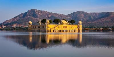 Palais de l'eau de Jal Mahal. Jaipur, Rajasthan, Inde photo