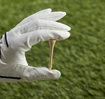 main humaine, tenue, golf, tee photo