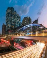 centre ville coucher de soleil bangkok