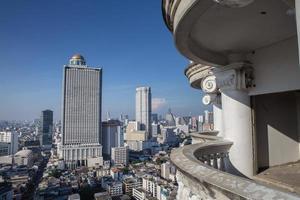 Vue sur la ville de Bangkok depuis la tour abandonnée