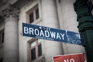 panneau de signalisation de Broadway