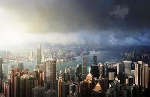 île de hong kong depuis le pic de victoria photo