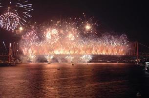 feux d'artifice, istanbul photo
