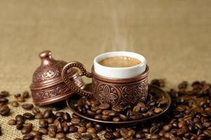 tasse traditionnelle de café turc.