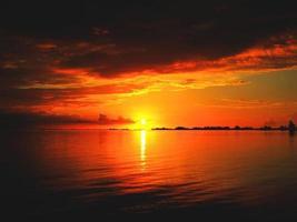 expérience au coucher du soleil photo