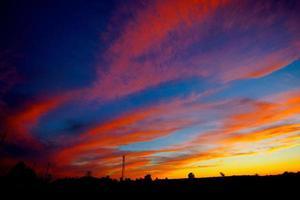 coucher de soleil vif