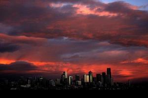coucher de soleil de Seattle photo