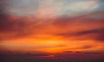 ciel coucher de soleil ardent
