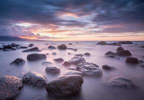 coucher de soleil sur la rive nord