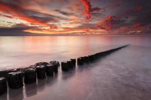 coucher de soleil coloré mer photo