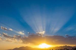 coucher de soleil au Sinaï photo
