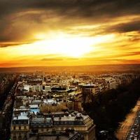 coucher de soleil à paris photo