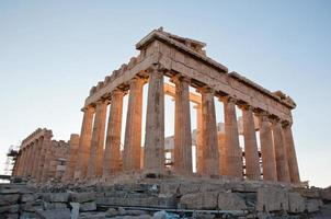 Détail du parthénon sur l'acropole athénienne, Grèce photo