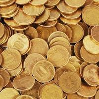 macro de pile d'or argent photo