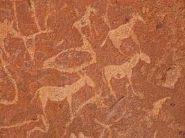 gravures rupestres photo