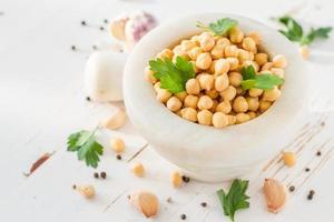 ingrédients de falafel - pois chiche, persil, oignon, ail